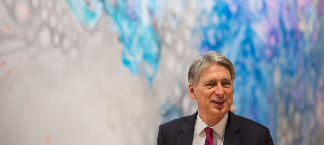 Philip Hammond pictured on a visit to Facebook's London HQ on Monday