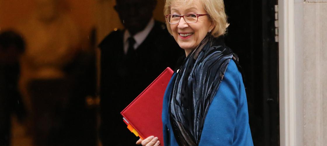 Andrea Leadsom heading into 10 Downing Street