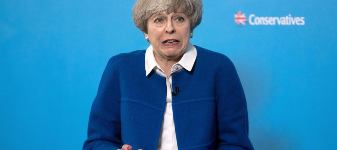 Theresa May during GE2017