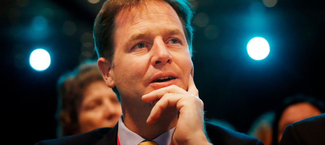 """Nick Clegg dubbed Theresa May's government """"clueless""""."""