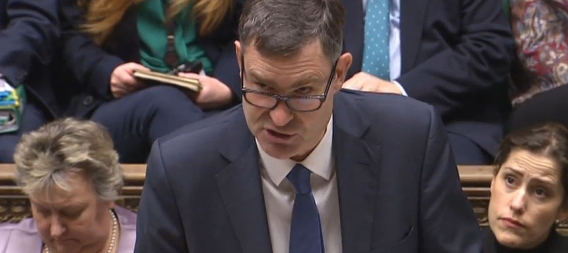 David Gauke addressing the House of Commons this morning