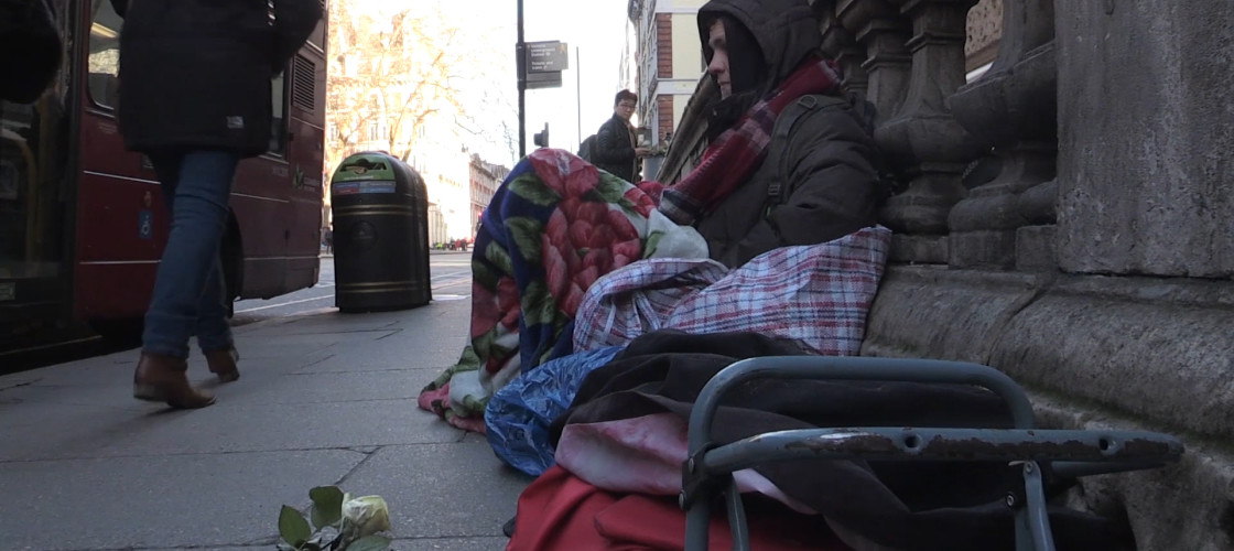 The number of homeless people has risen year on year since 2010, according to Shelter.