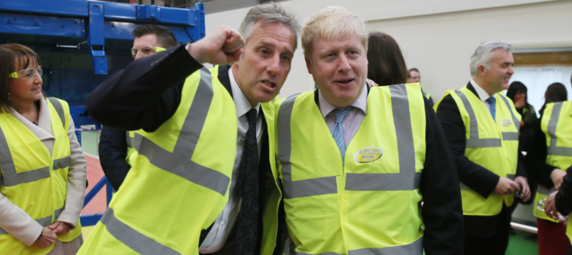 Ian Paisley and Boris Johnson