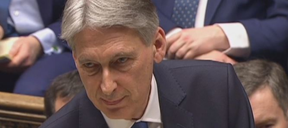 Philip Hammond delivering his Budget this lunchtime