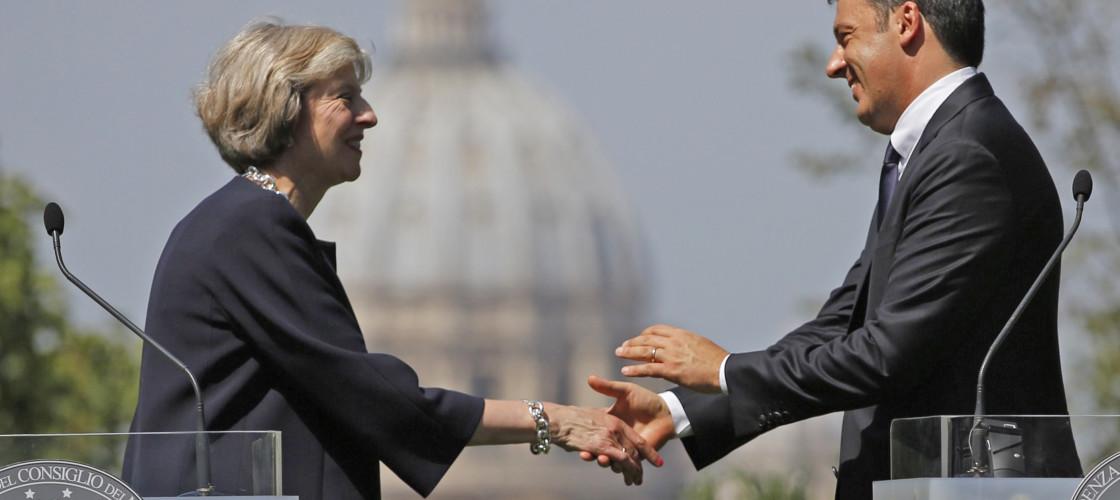 Matteo Renzi and Theresa May