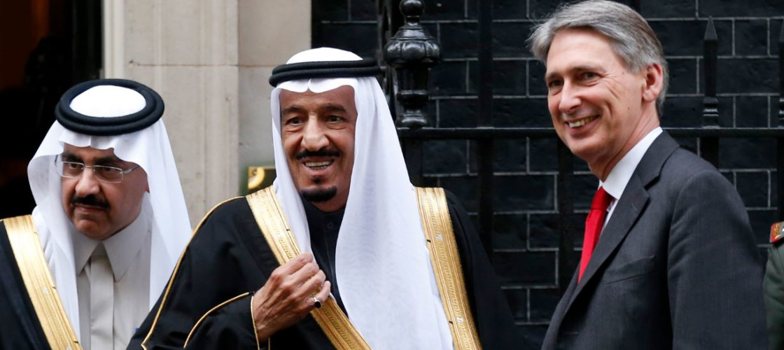 Philip Hammond and Saudi Arabia's Defence Minister Prince Salman bin Abdul-Aziz Al Saud