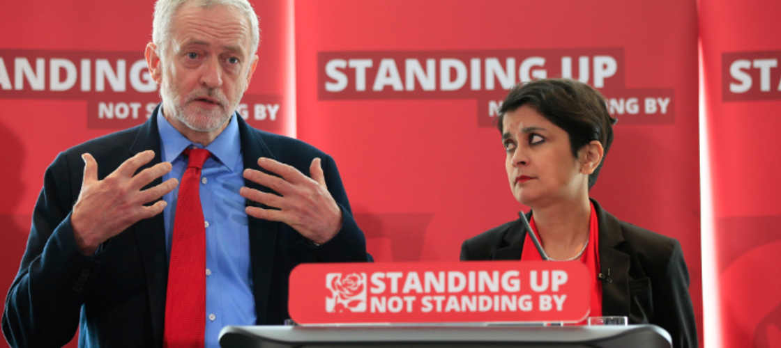 Shami Chakrabarti and Jeremy Corbyn