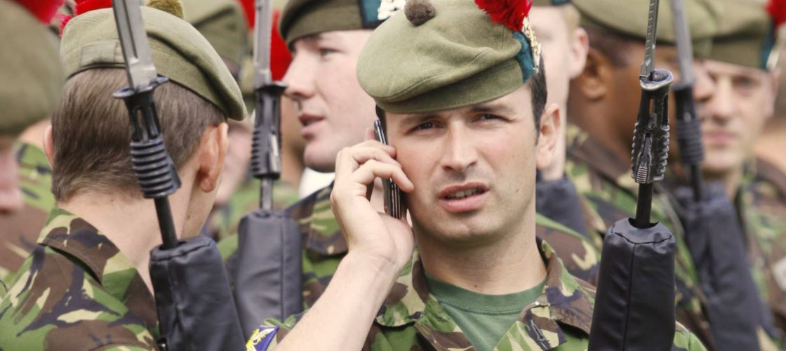 Soldiers mobile phone