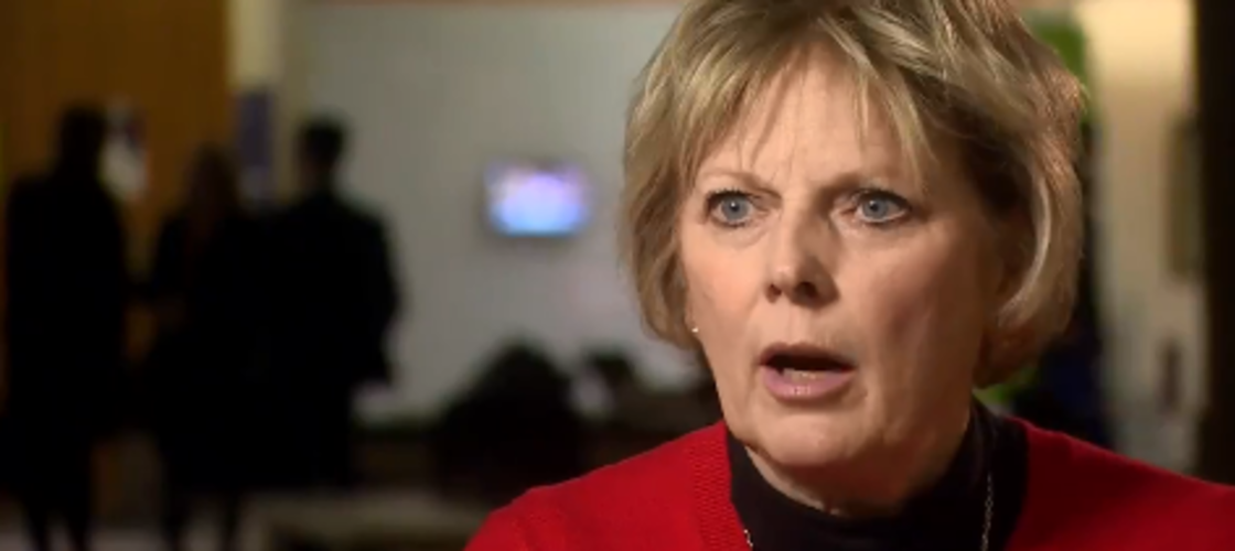 Anna Soubry appearing on Newsnight last night