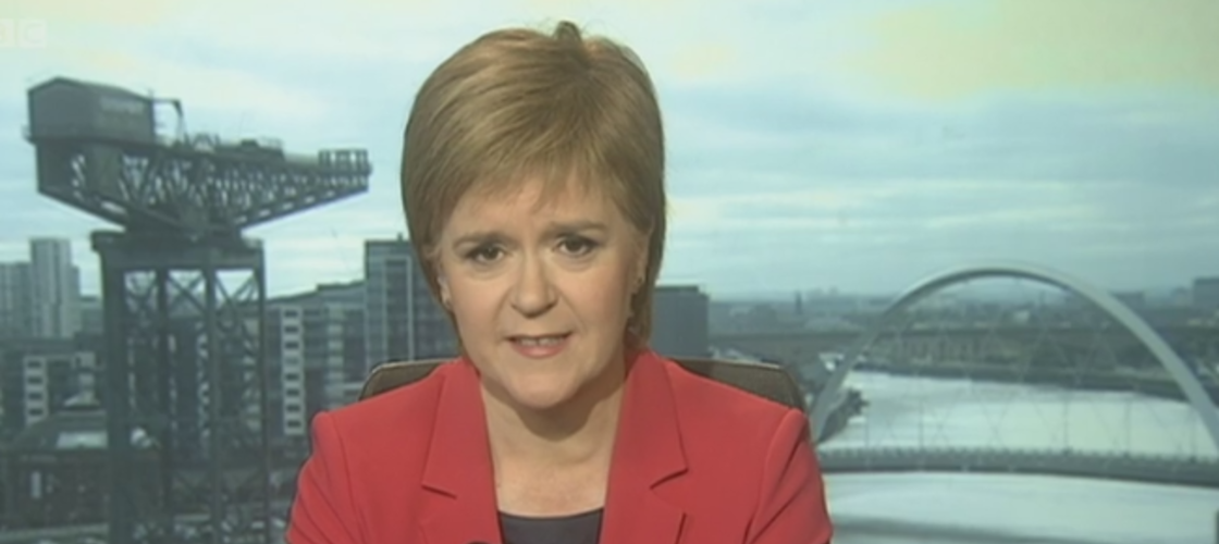 Nicola Sturgeon appearing on the Andrew Marr Show