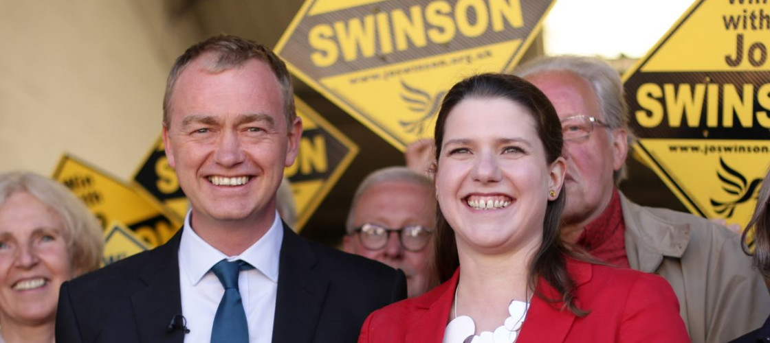 Tim Farron and Jo Swinson of the Liberal Democrats