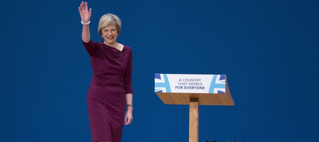 Theresa May at the 2016 Tory party conference