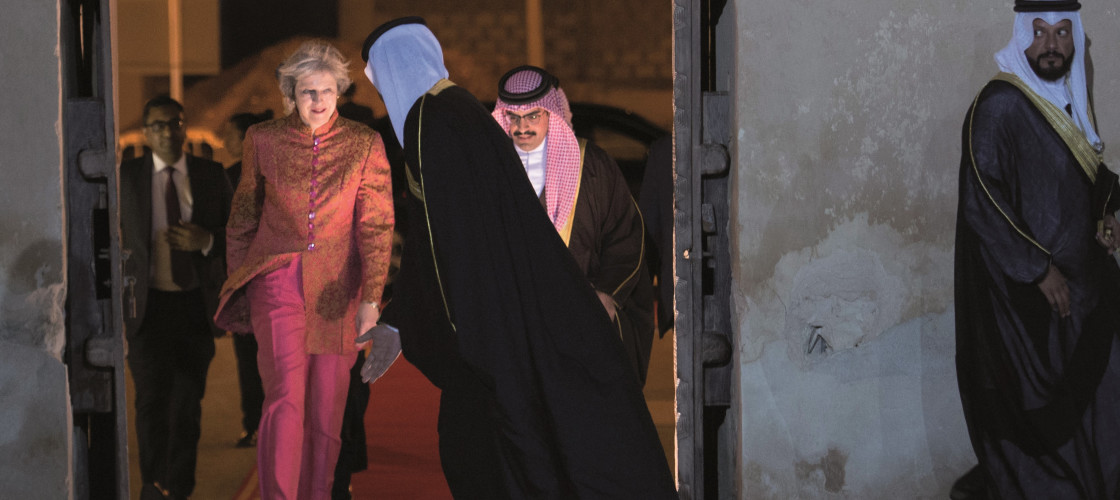 Theresa May in Bahrain