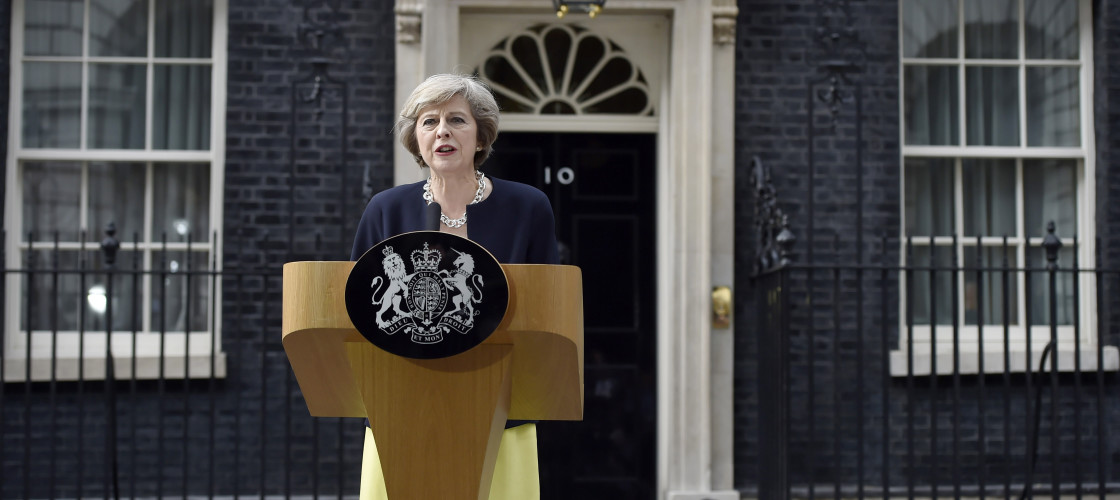 Theresa May makes her first statement as Prime Minister outside No 10