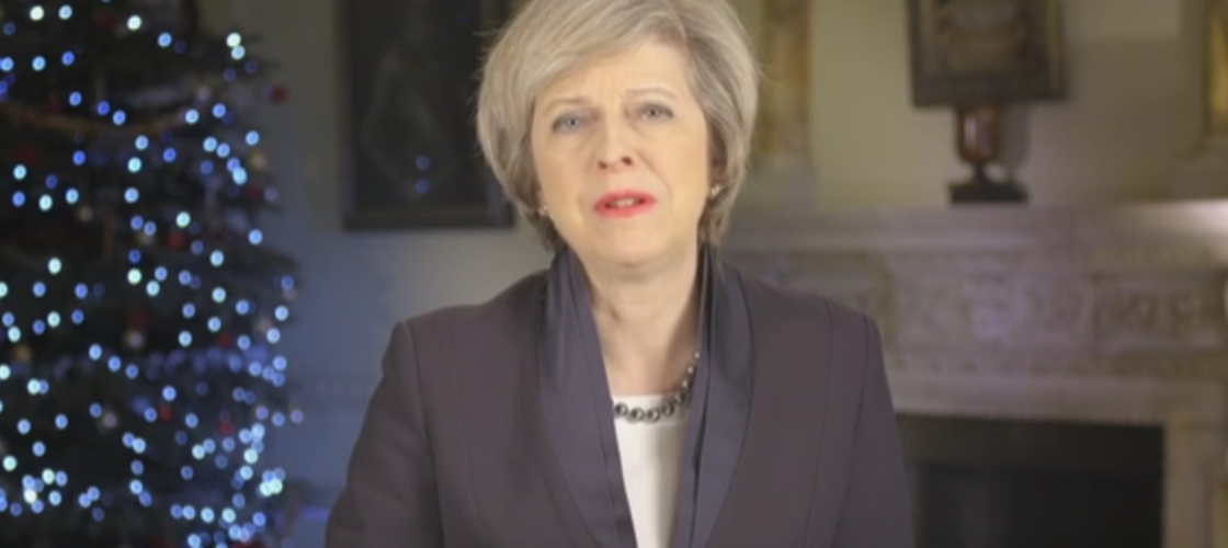 Theresa May delivers New Year message