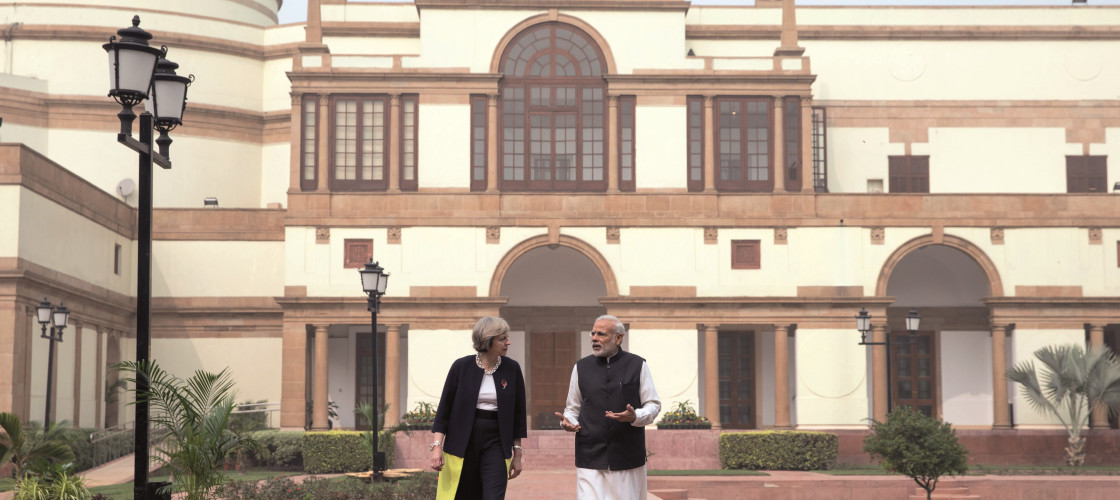 Theresa May with Shri Narendra Modi