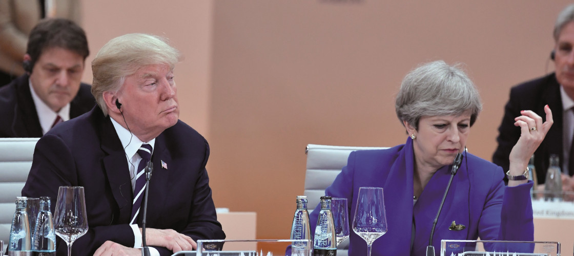 US President Donald Trump and Theresa May