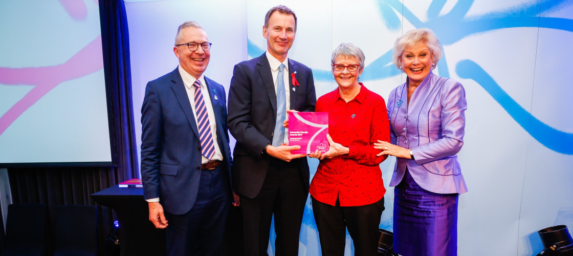 Jeremy Hunt presents an award at Dementia Friendly Awards