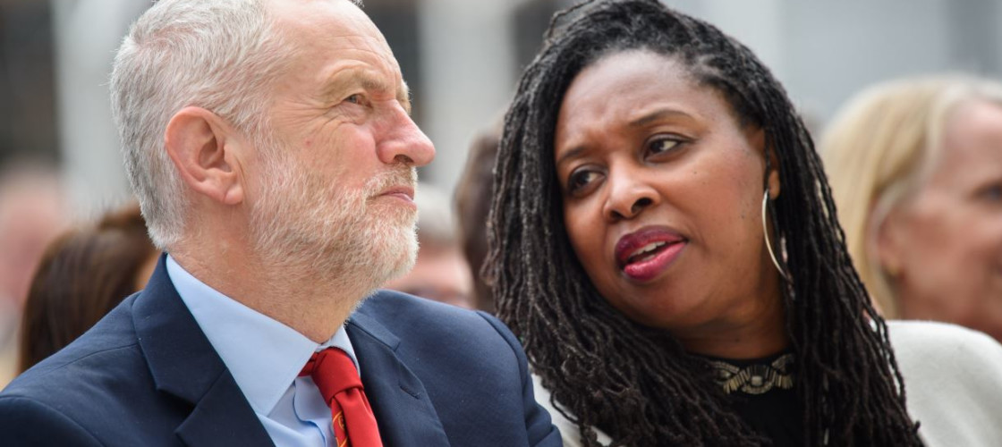 Jeremy Corbyn and Dawn Butler