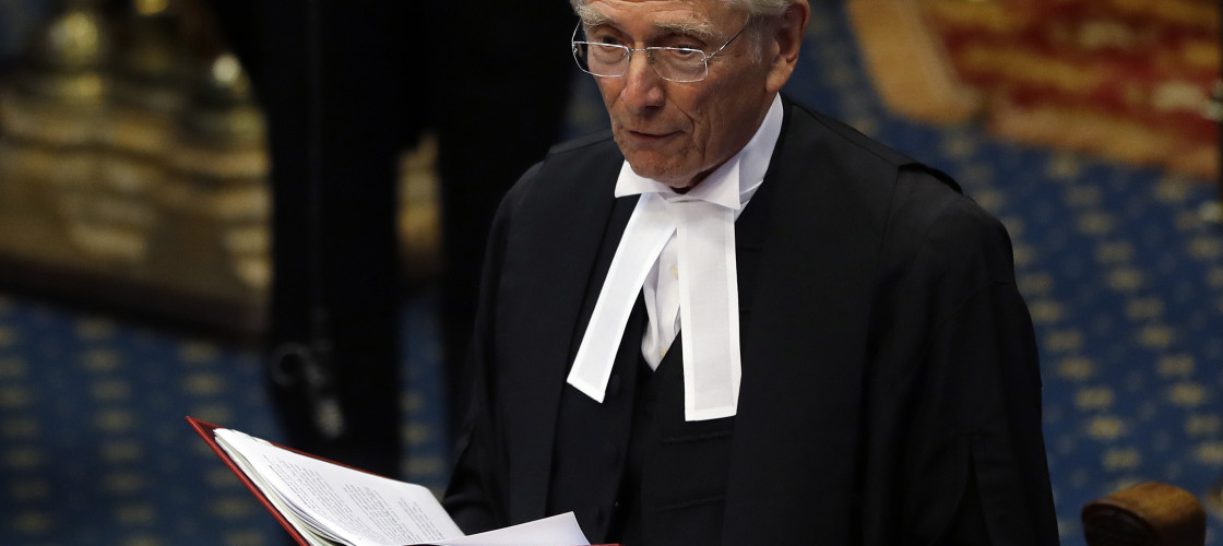 House of Lords speaker Lord Fowler