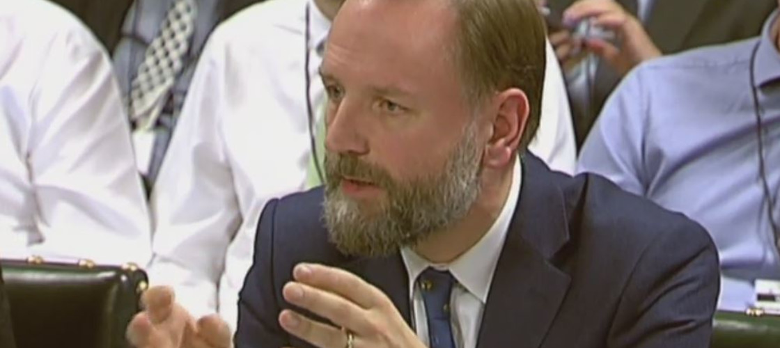 Simon Stevens before PAC this afternoon
