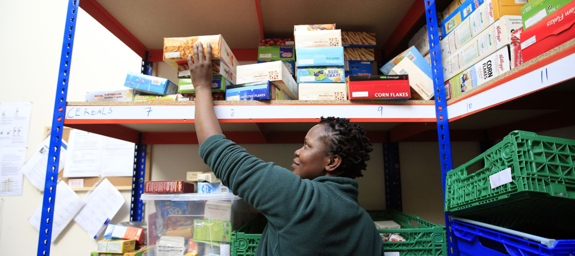 A Trussell Trust food bank