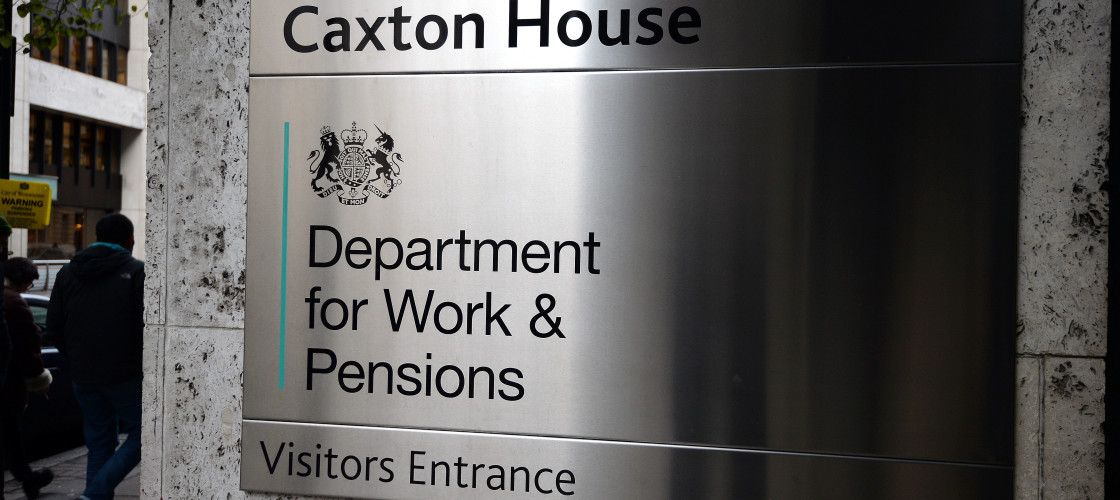 Entrance to the Department for Work and Pensions