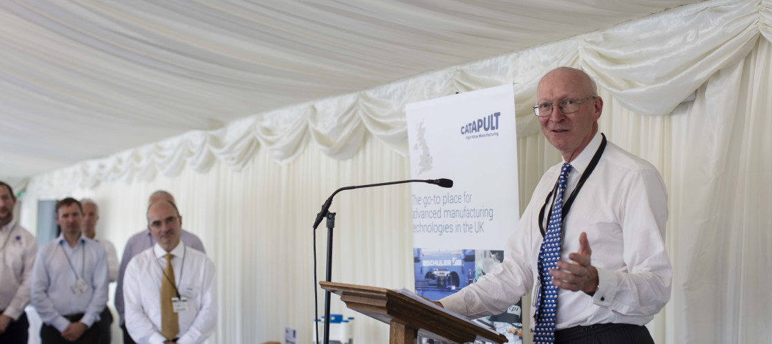 Lord Prior speaks at the HVM Catapult event