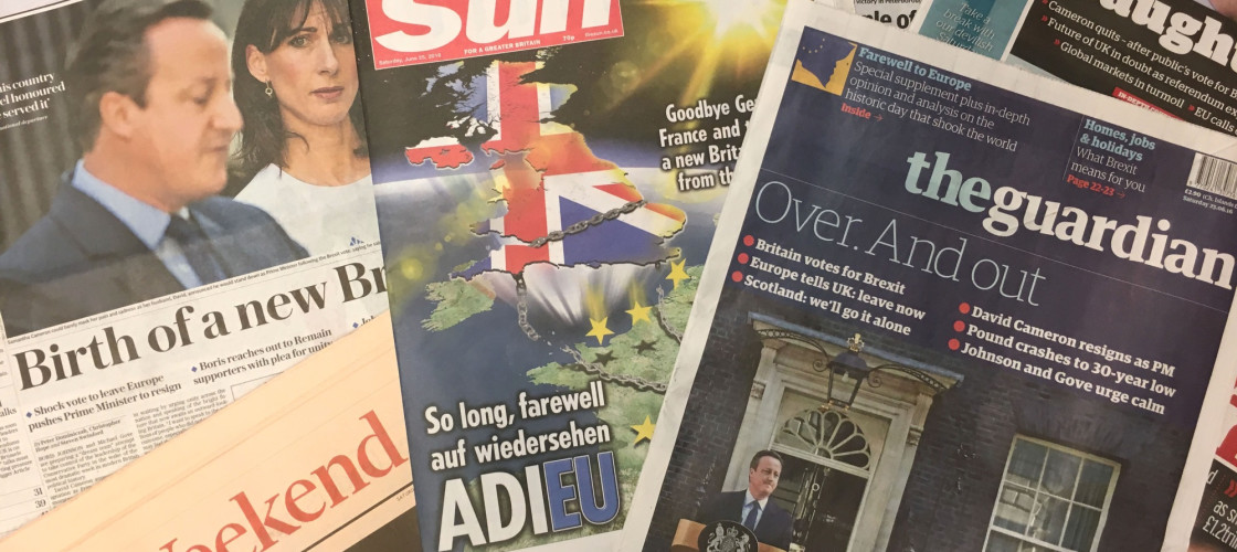 UK front pages - EU Referendum