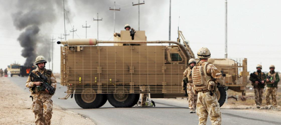 British troops in Basra in 2007