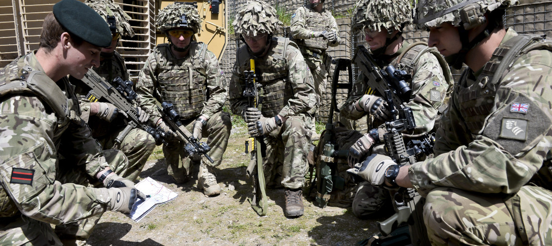 Soldiers prepare for deployment to Afghanistan on exercise at Copehill Down Village