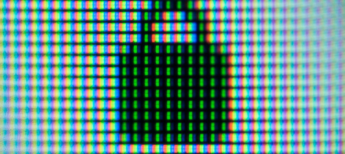 Pixel symbol on screen