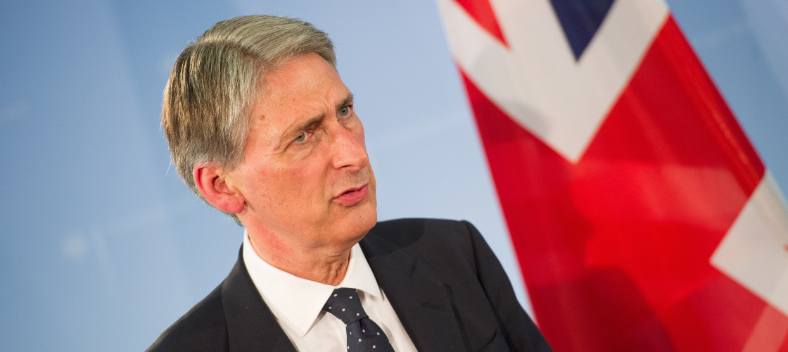 Philip Hammond speaks during a press conference