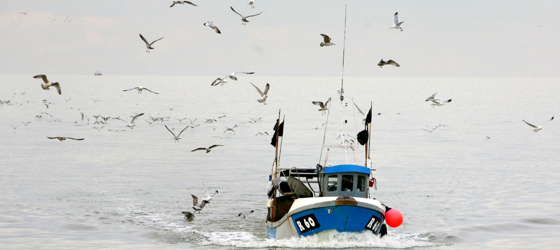 A fishing boat pictured off the Kent coast