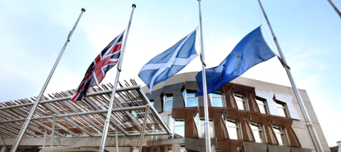 Scottish and UK flags