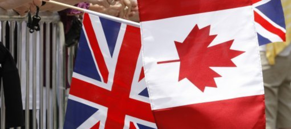 UK and Canadian Flag