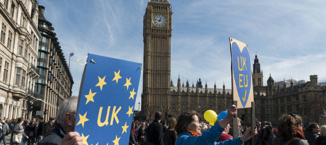 Pro-EU march on Westminster