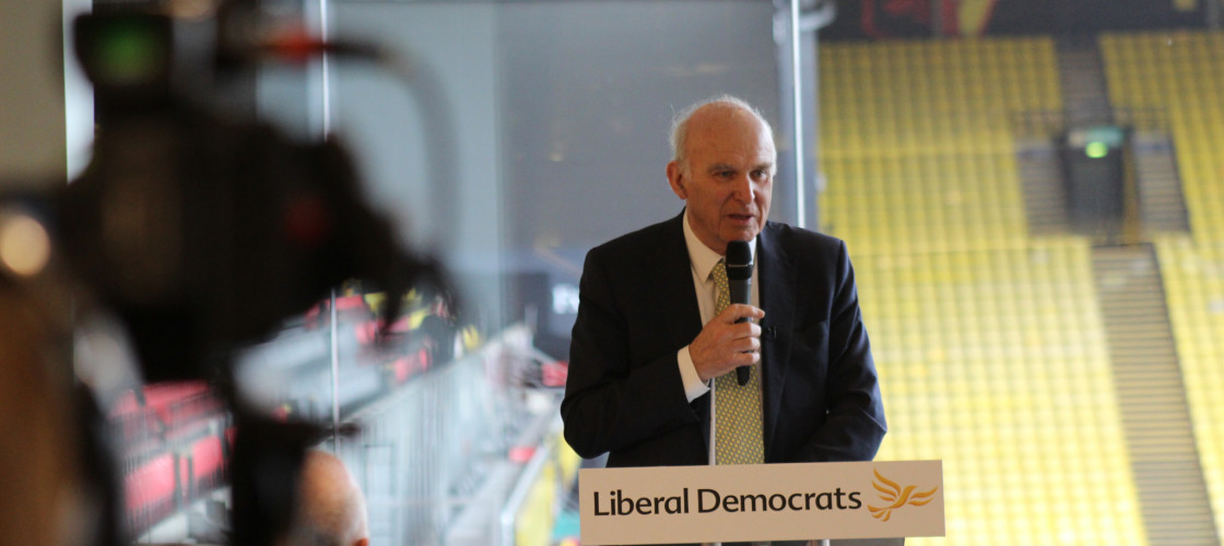 Vince Cable launches the Lib Dem local election campaign