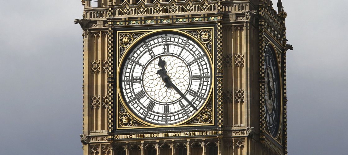 Parliament's Elizabeth Tower, housing Big Ben and the Great Clock