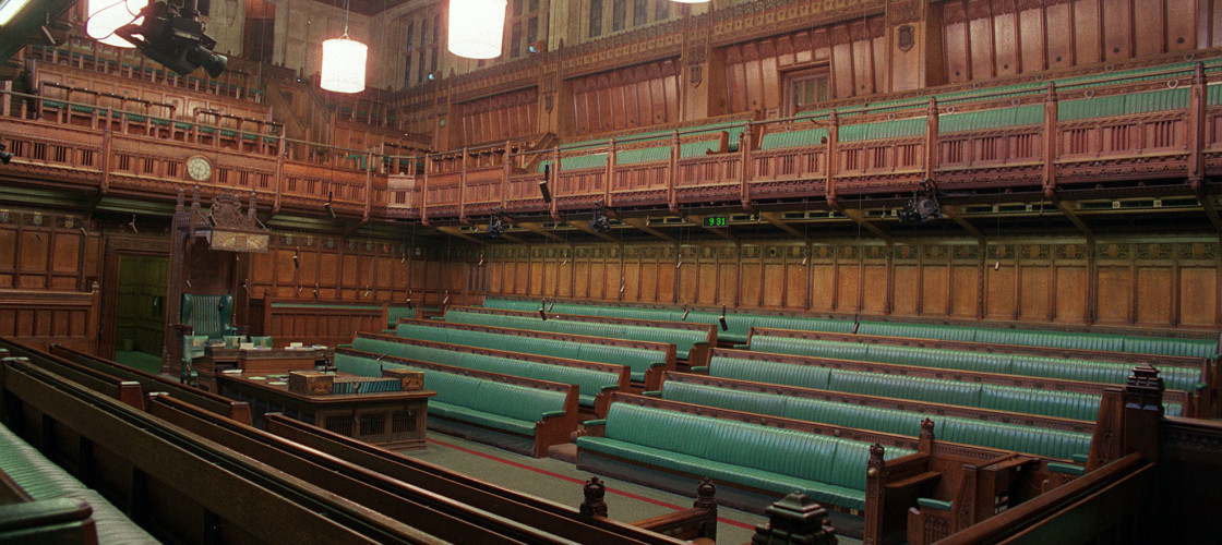 Green benches in House of Commons
