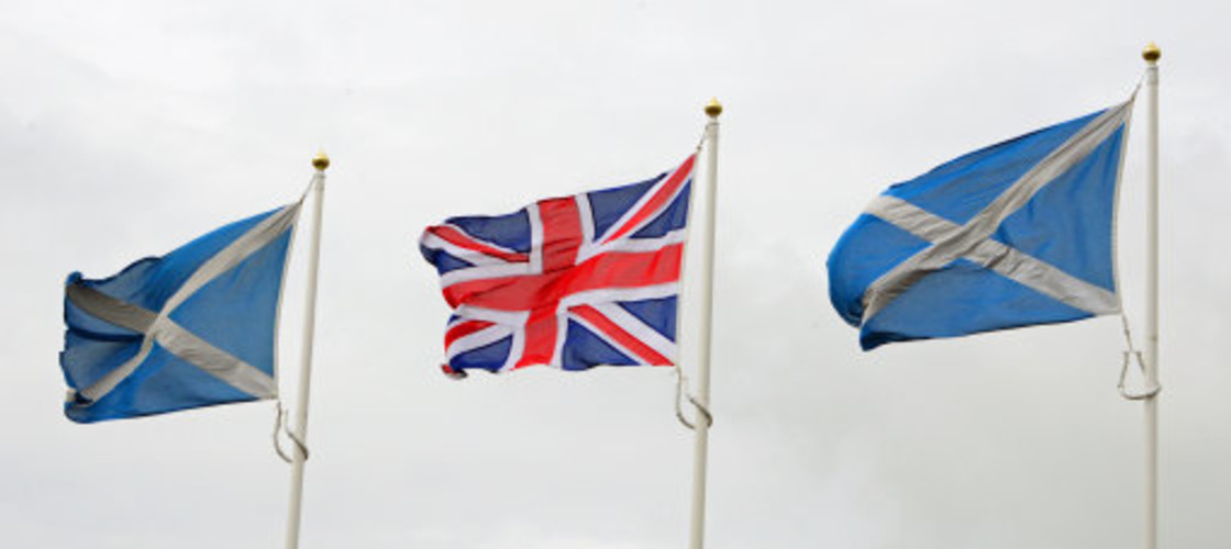 Saltire and Union flags