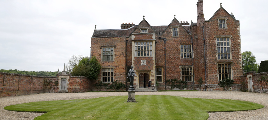 The front entrance to the Prime Minister's residence at Chequers in Buckinghamshire