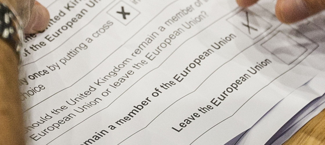 Ballots at the 2016 EU referendum
