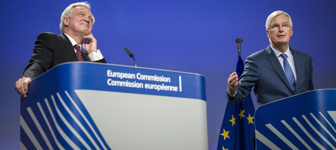 Brexit negotiation press conference with David Davis