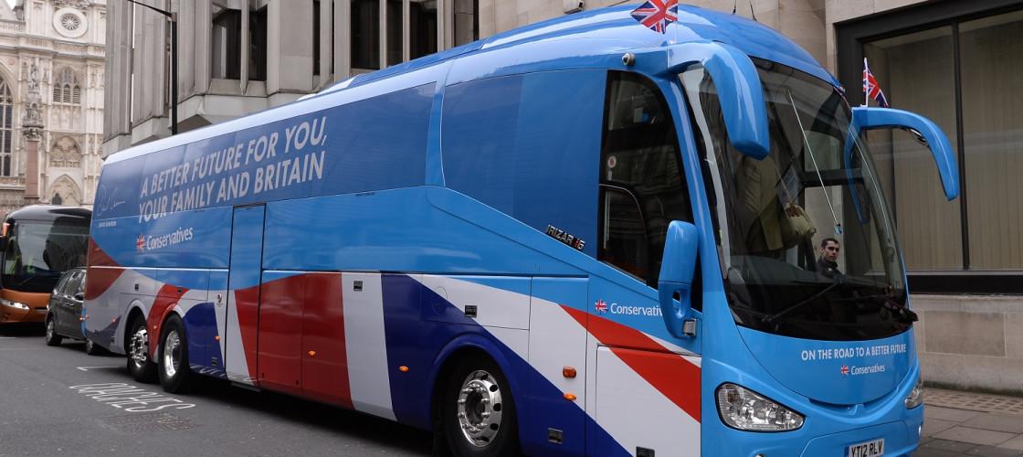 Conservative 2015 election battle bus