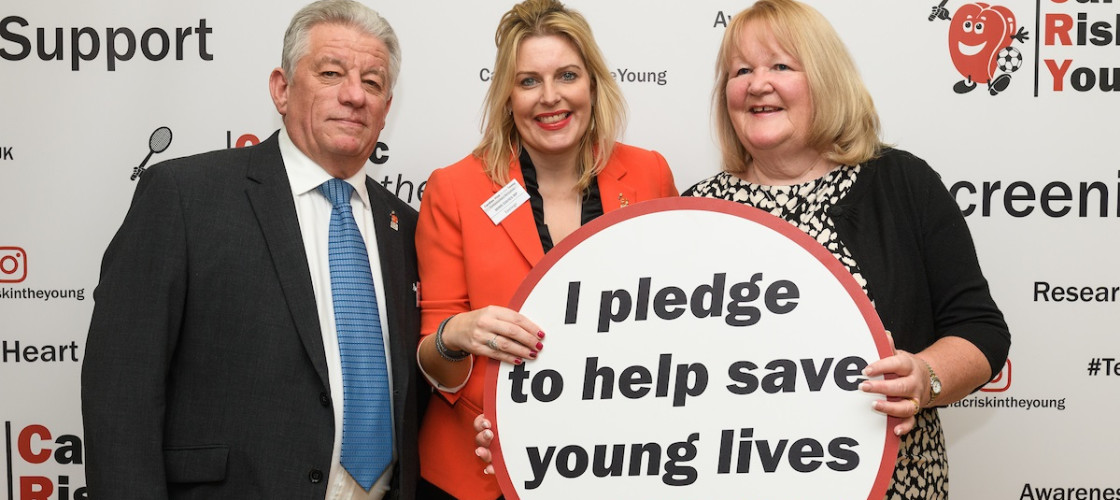 CRY campaigners and bereaved parents, Graham and Anne Hunter with their constituency MP, Mims Davies