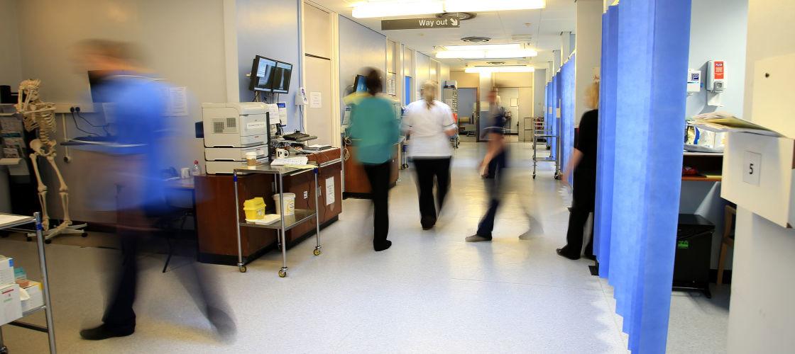 Scene in a hospital ward
