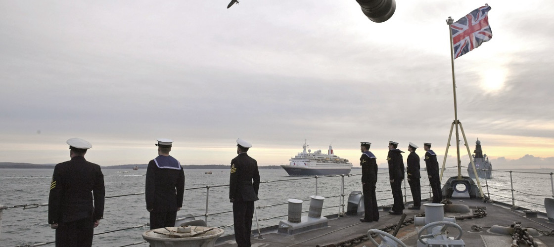 Crew from HMS Northumberland during D-Day commemorations