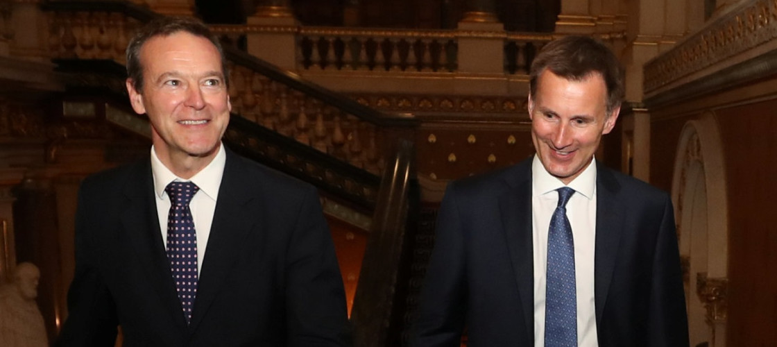 Sir Simon McDonald and Jeremy Hunt