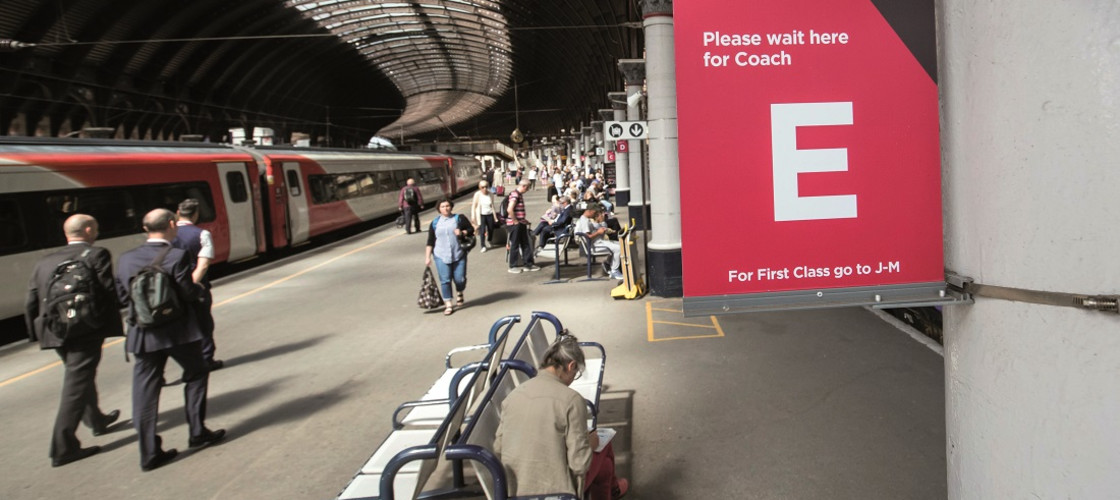 A LNER (London North Eastern Railway) sign at York train station